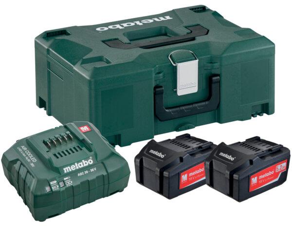 Базов комплект акумулатори 18V ASC 30-36 + 2 x 5.2 Ah LiPower + Metaloc II
