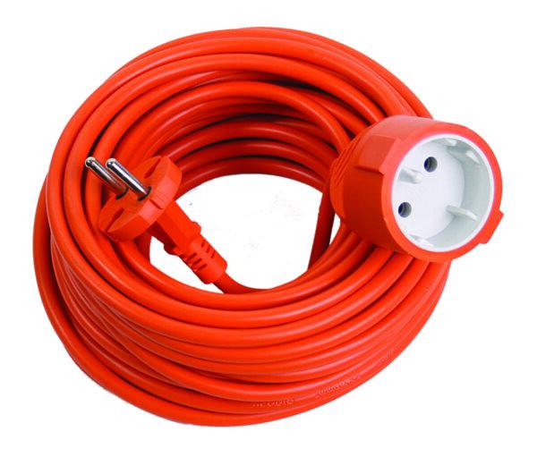 Удължител - оранжев, 20 m, 2 x 1 mm²
