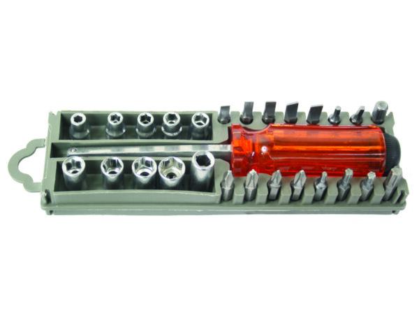 Отвертка с накрайници BS - комплект 28 части