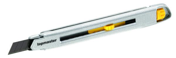 Нож макетен - 9 mm, метален трето поколение