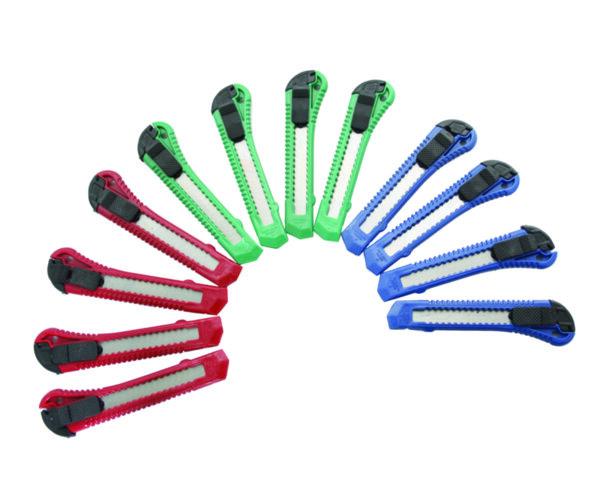 Нож макетен - 18 х 155 mm, пластмасов