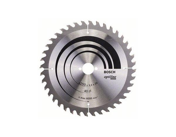 Диск за циркуляр Optiline Wood 250X30X3.2 40z