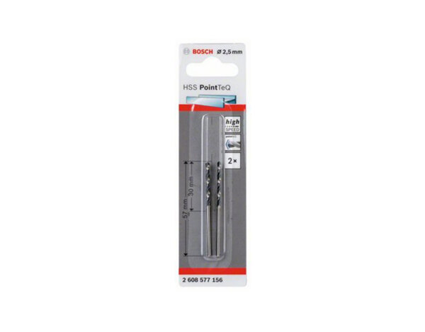 Свредло за метал HSS PointTeQ - 2.5 x 30 x 57 mm