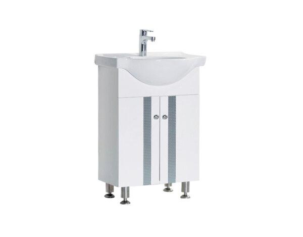 Долен шкаф за баня, с мивка - 60 х 85 х 41.5 cm