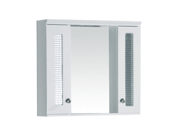 Горен шкаф за баня - с LED осветление, 60 х 55 х 13 cm