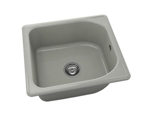 Квадратна мивка №209 - 56x51см Инокс