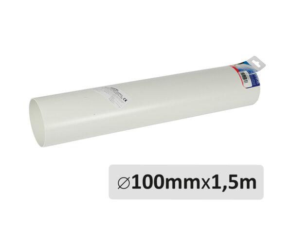 Пластмасов въздухопровод - ø100mm x 1.5m