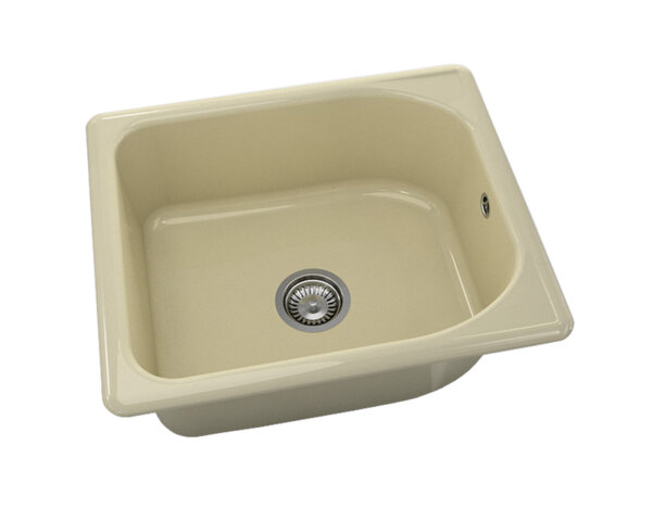Квадратна мивка №210 - 60x51см Жасмин