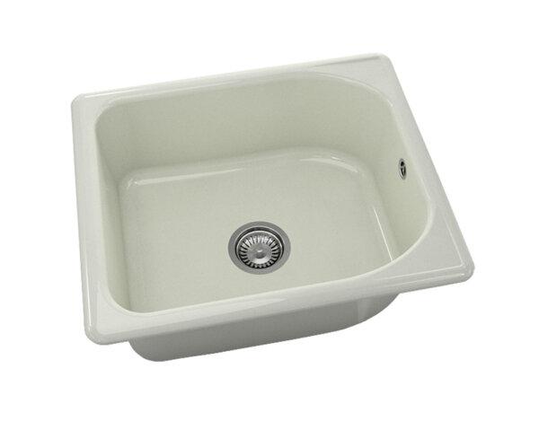 Квадратна мивка №210 - 60x51см Полярен гранит