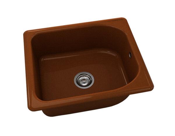 Квадратна мивка №210 - 60x51см Азалия