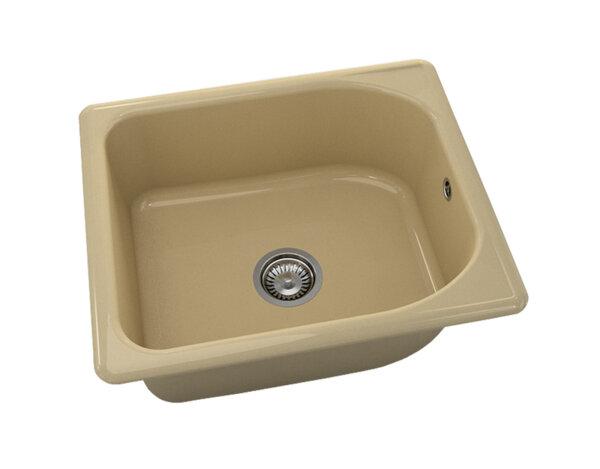 Квадратна мивка №210 - 60x51см Капучино гранит
