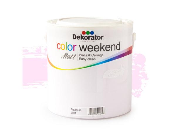 Латекс Color Weekend Matt - 2.5 l, различни цветове