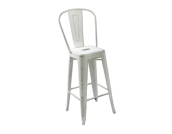 Бар стол Antic Бял