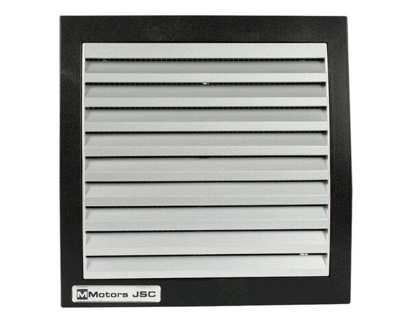 Квадратен вентилатор с клапа BLACK/INOX MM-100 - ø100mm