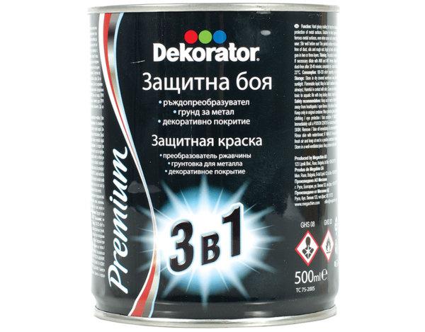 Алкидна боя 3 в 1 Dekorator - 500 ml, Хамър ефект, различни цветове