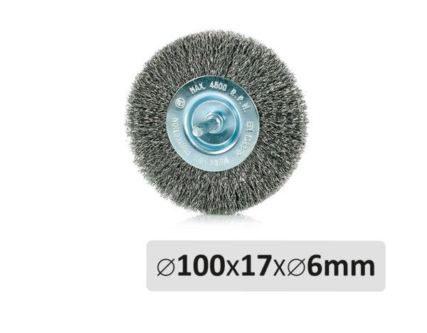 Телена четка - ø100mm x 17mm x ø6mm