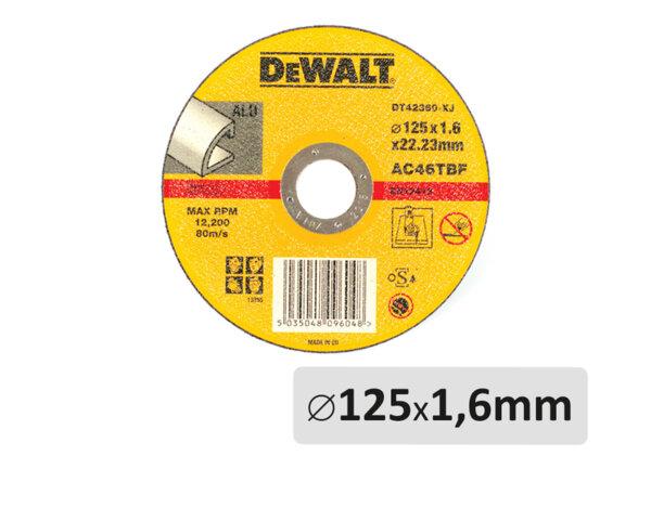 Абразивен диск за алуминий - ø125mm x 1.6mm x ø22.2mm
