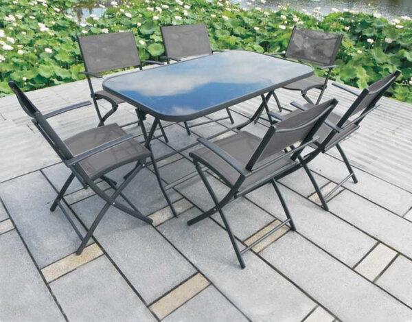 Градинска маса с шест стола 346677