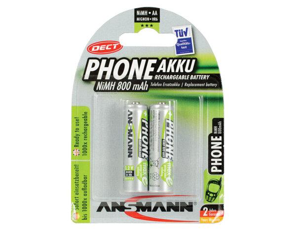 Презареждаеми батерии - 1.2V/AA/800mAh - 2 броя