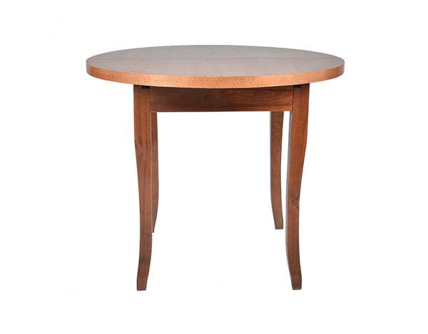 """Трапезна маса """"Барок"""" - 75 x 90 + 30 cm, орех"""