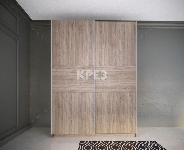 Двукрилен гардероб City 1012 - с плъзгащи врати