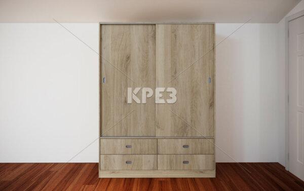 Двукрилен гардероб City 1027 - с плъзгащи врати