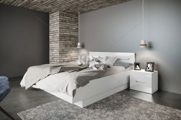 Легло Noir - с нощни шкафчета