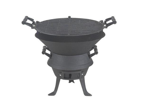Чугунено барбекю на въглища
