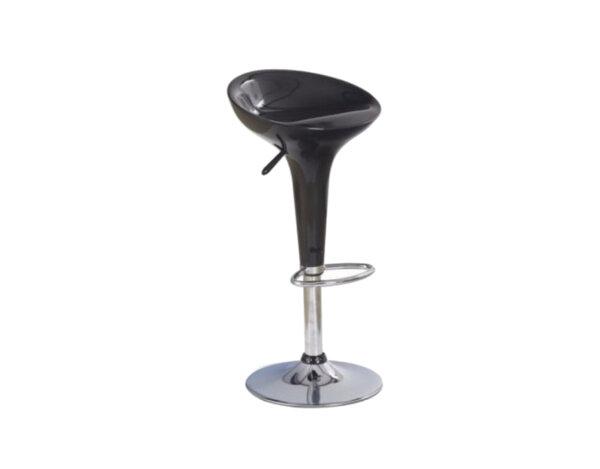 Бар стол H-17 - ABS, черен