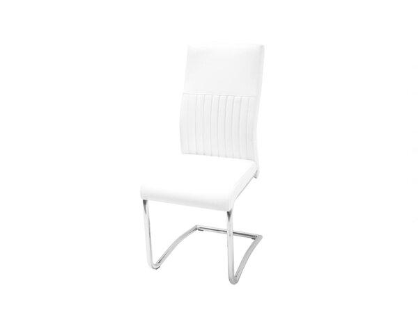 Трапезен стол К265 - еко кожа, бял