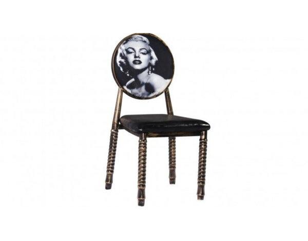 Трапезен стол К267 - еко кожа, черен