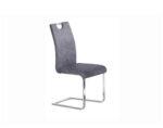 Трапезен стол К281 - еко кожа, сив