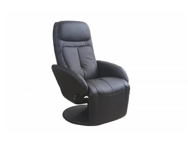 Релакс стол Optima - еко кожа, черен