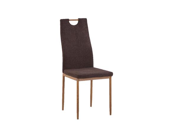 Трапезен стол К295 - дамаска, кафяв