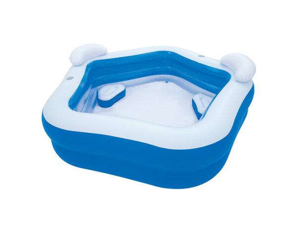 Надуваем басейн със седалки и облегалки - 213 х 206 х 69 cm