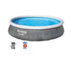 Надуваем басейн с филтърна помпа, ратан - 396 х 84 cm