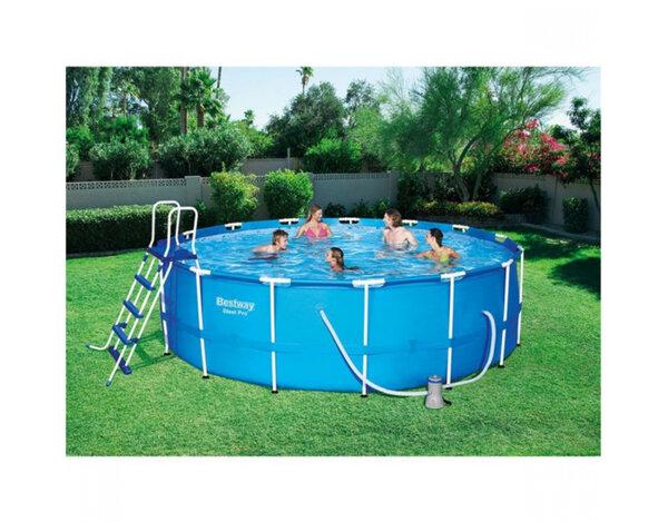 Сглобяем басейн с филтърна помпа - 457 x 122 cm
