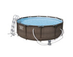 Сглобяем басейн с аксесоари, ратан - 366 х 100 cm