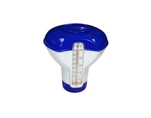 Диспенсър за хлорни таблетки - 20 g, с термометър