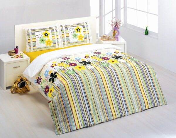 "Спален комплект ""Райе с цветя"" - 180 x 220 cm"