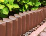 Градинска ограда Border - 250 cm, кафява