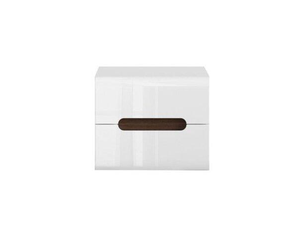 Нощно шкафче Azteca - 51 x 41 x 43 cm, бял гланц