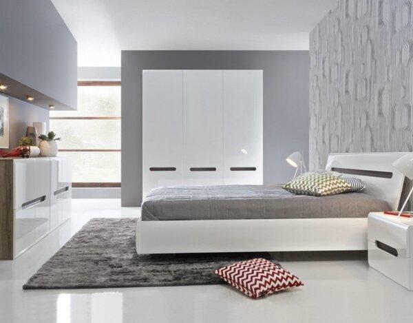 Гардероб Azteca - 180 x 60 x 210 cm, бял гланц