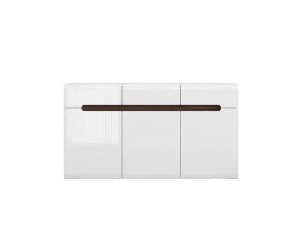 Скрин Azteca - 150 x 41 x 84 cm, бял гланц