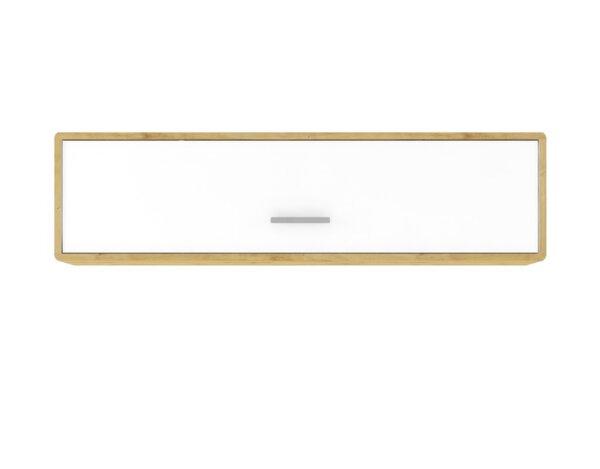 "Шкаф за окачване Buka - 153.5 x 29 x 40 cm, бяло/дъб ""Артизан"""