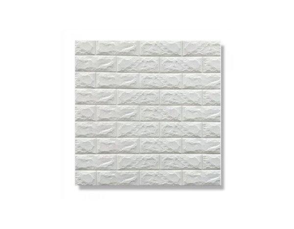 Самозалепващ PVC панел - 70 х 70 см, бели тухли