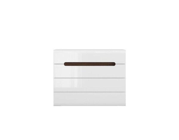 Скрин Azteca - 105.5 x 41 x 84 cm, бял гланц