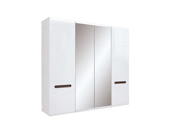 Гардероб Azteca - 220 x 60 x 210 cm, бял гланц