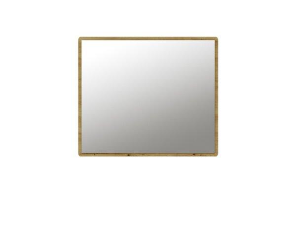 "Огледало Buka - 94 x 6 x 80 cm, бяло/дъб ""Артизан"""