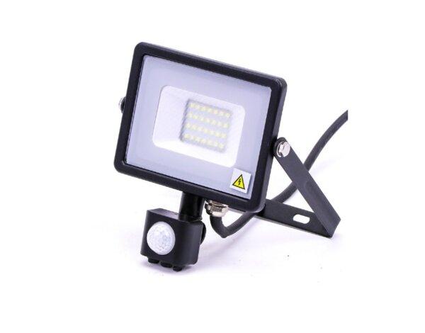 LED прожектор със сензор, 6400 K - черен, различна мощност